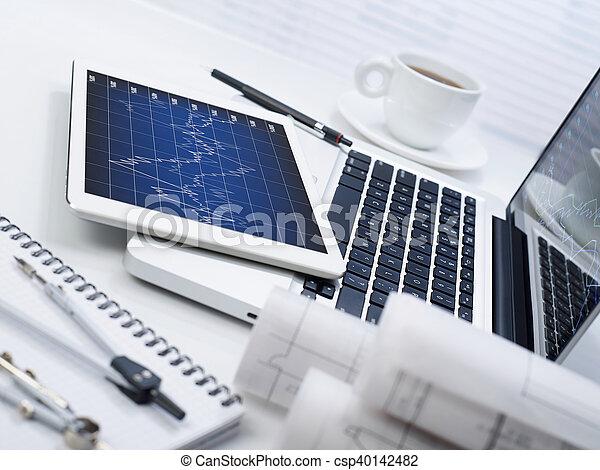 Business development chart - csp40142482