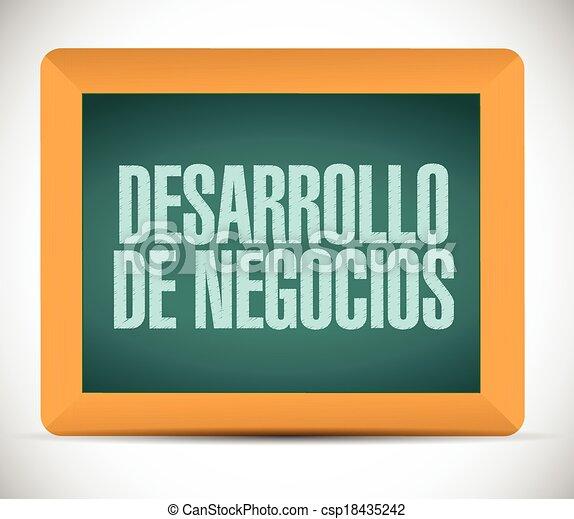 business development in spanish sign. - csp18435242