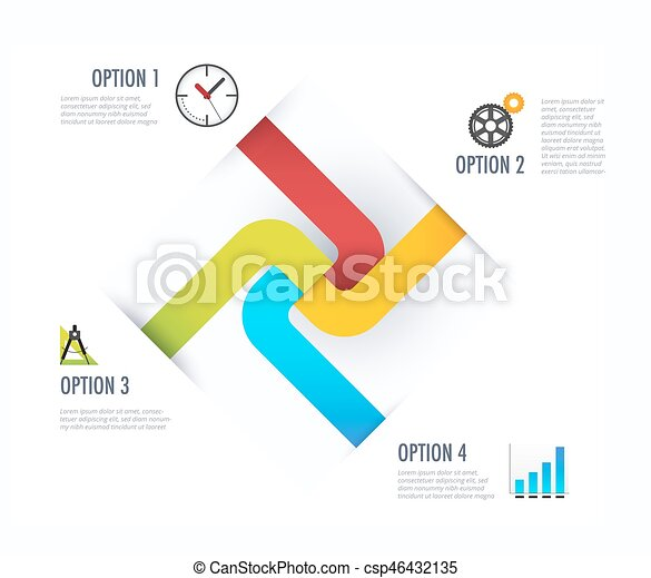 Business diagram. Business infographic with icon. vector illustration. - csp46432135