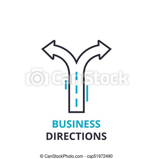 Business directions concept outline icon linear sign thin line business directions concept outline icon linear sign thin line pictogram logo ccuart Images