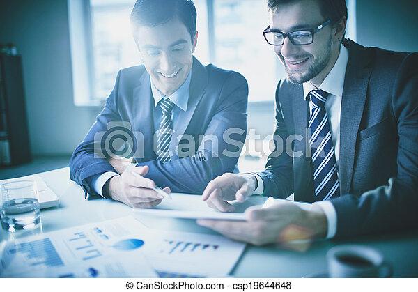 Business discussion - csp19644648