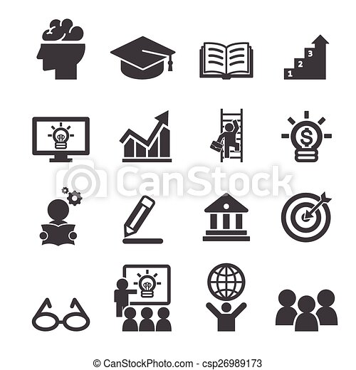 business education icon - csp26989173