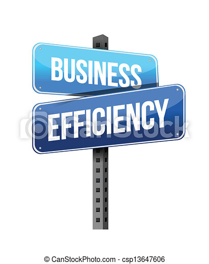 business efficiency sign - csp13647606