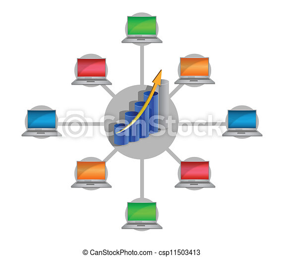 business electronic network - csp11503413