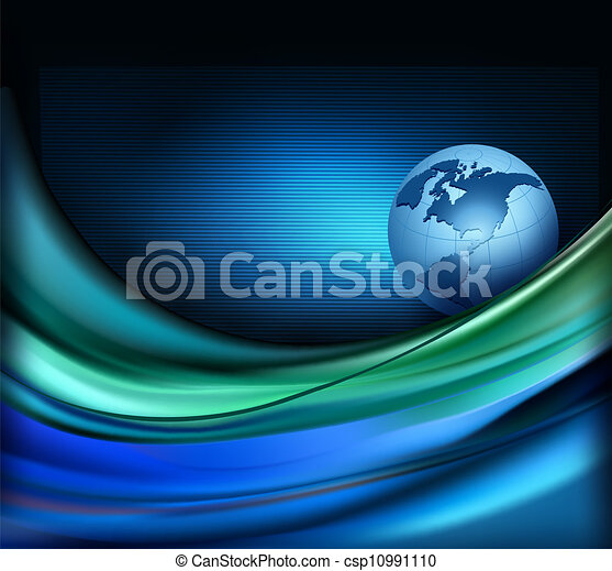 Business elegant abstract background with globe. Vector illustration - csp10991110