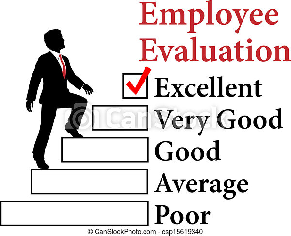 Business employee improve Evaluation - csp15619340