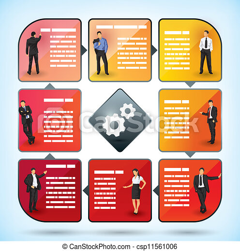 Business employee presentation chart - csp11561006