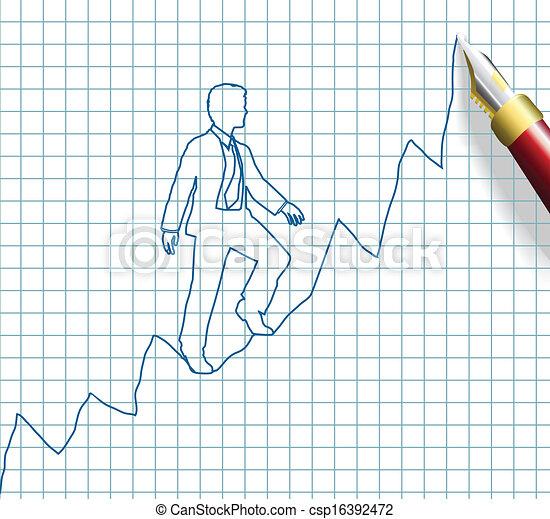 business, entrepreneur, haut, reussite, début - csp16392472