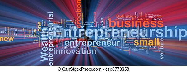 Business entrepreneurship background concept glowing - csp6773358