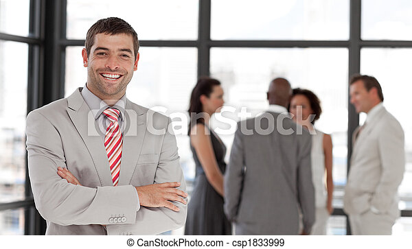 Business executive smiling at camera - csp1833999