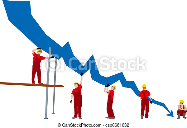 Business failure and depression graph - csp0681632