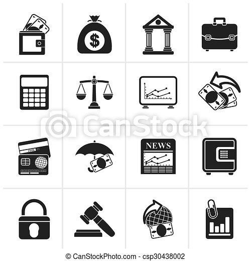Business, finance and bank icons - csp30438002