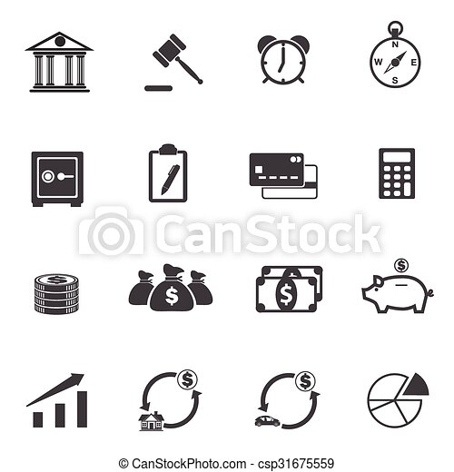 Business Finance Icons - csp31675559
