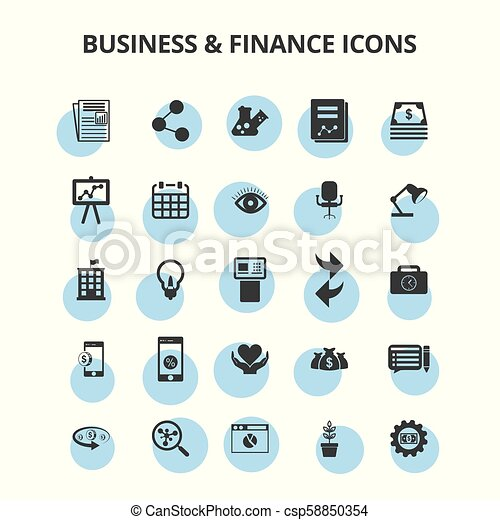 Business & Finance Icons - csp58850354