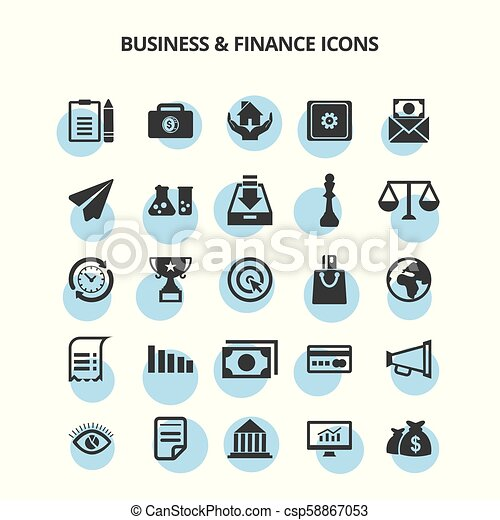 Business & Finance Icons - csp58867053