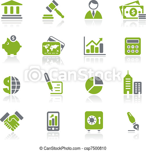 Business & Finance Icons / Natura - csp7500810
