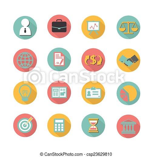 Business finance icons set - csp23629810