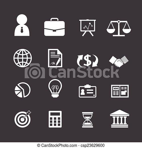 Business finance icons set - csp23629600