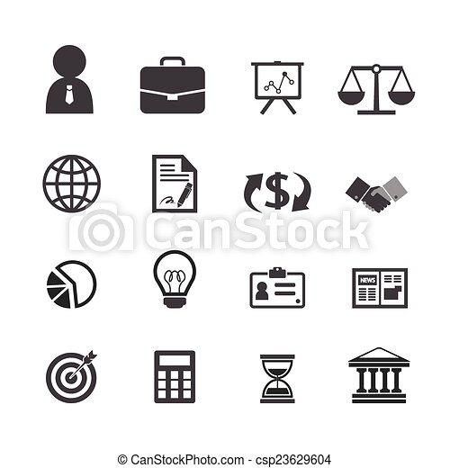 Business finance icons set - csp23629604