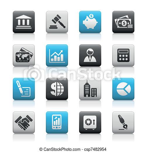 Business & Finance / Matte Buttons - csp7482954