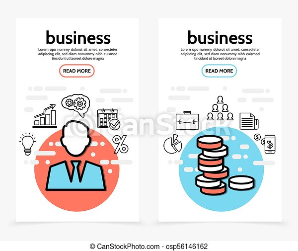 Business Finance Vertical Banners - csp56146162