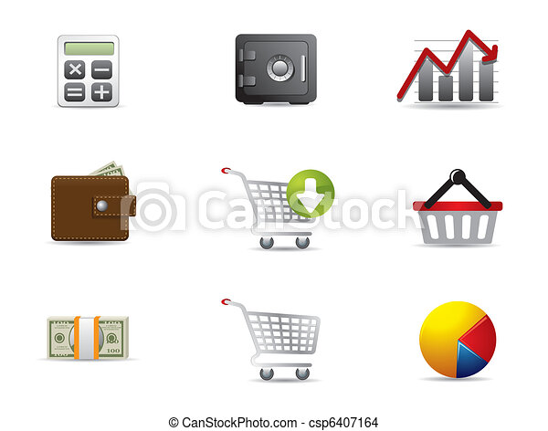 Business & Finance Web Icons - csp6407164