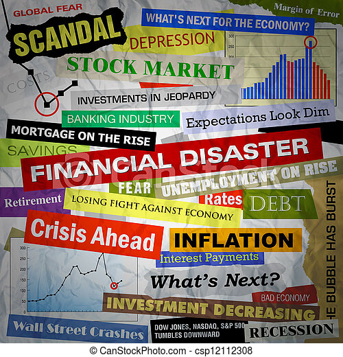 Business Financial Disaster Headlines - csp12112308