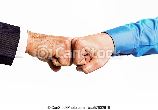 Business fist bump isolated on white background - csp57602619