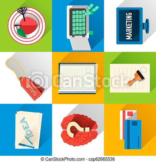 Business flat icons for infographic. Vector Illustration design - csp62665536