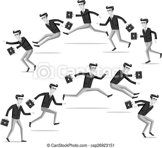 business flat web infographic vector grey men people - csp26923151