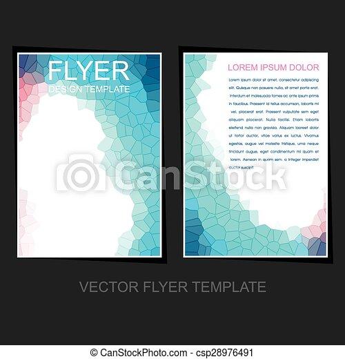 business flyer or leaflet design