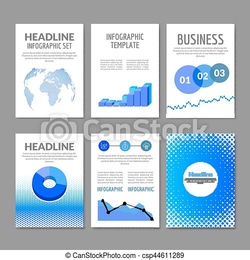 business flyer set brochure with infographics modern colorful design flyer templates mobile applications and online services infographic - Colorful Brochure Templates