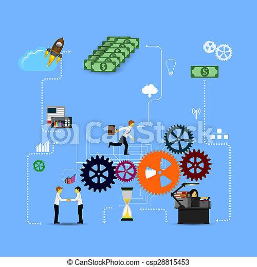 business, gabarit, infographics - csp28815453