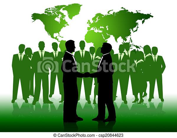 business, gens fonctionnement, ensemble, hommes affaires, spectacles - csp20844623
