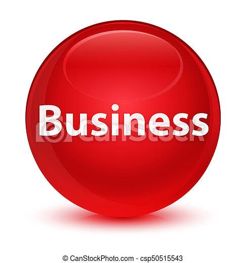 Business glassy red round button - csp50515543