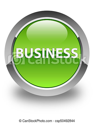 Business glossy green round button - csp50492844