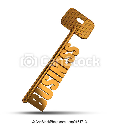 Business gold key - csp9164713
