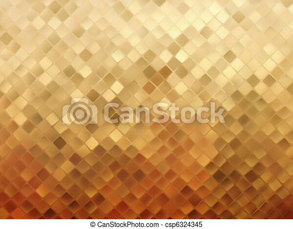 Business gold mosaic background. EPS 8 - csp6324345