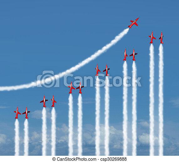 Business Graph Concept - csp30269888