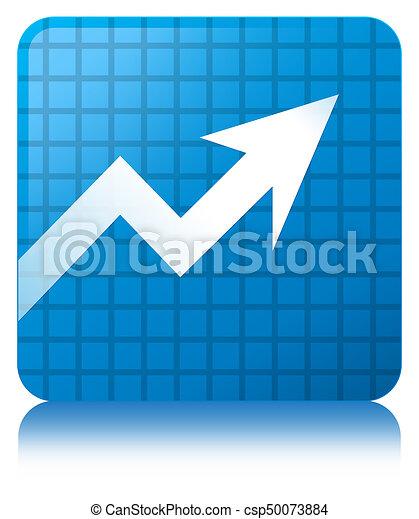 Business graph icon cyan blue square button - csp50073884