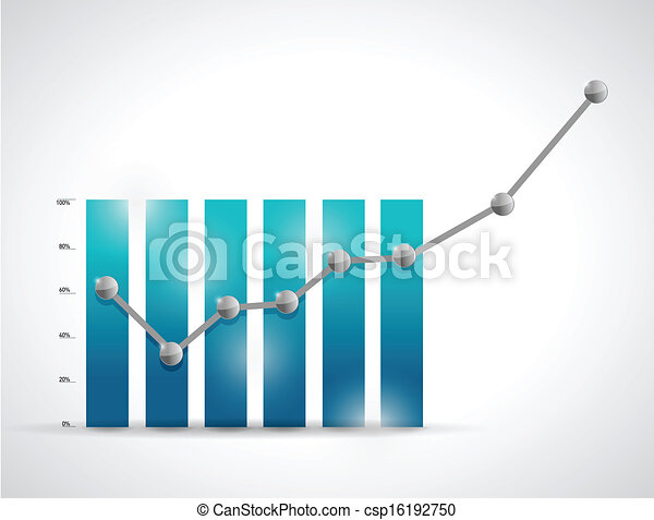 business graph illustration design - csp16192750