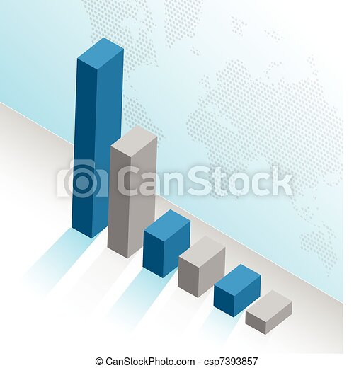 business graph illustration design  - csp7393857