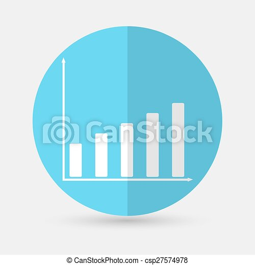Business graph on a white background - csp27574978