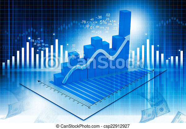 Business graph on abstract financial background	 - csp22912927