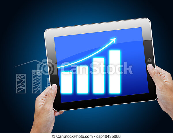 Business Graph On Tablet