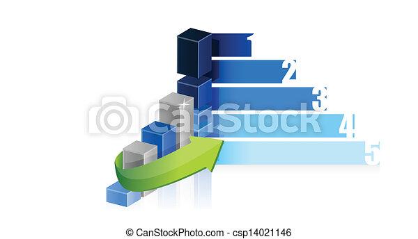 business graph steps design illustration - csp14021146