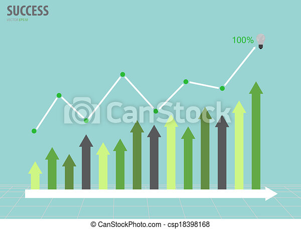 Business graph. Vector illustration. - csp18398168