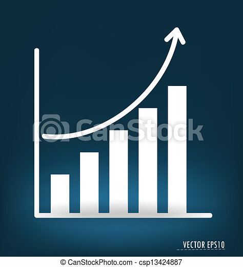 Business graph. Vector illustration. - csp13424887