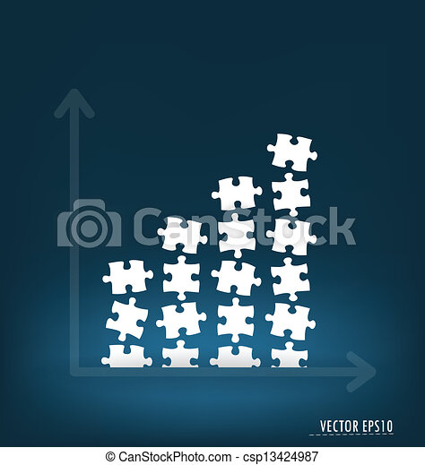 Business graph. Vector illustration. - csp13424987