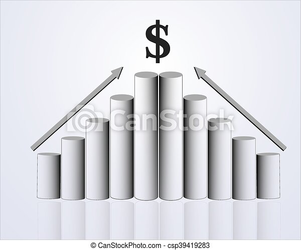 Business graph. Vector illustration. - csp39419283